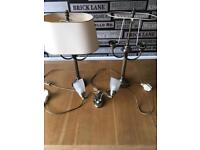 Quality brass lamps and wall fixing