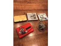 Zelda 3DS Xl with Pokemon X and Fire Emblem. Zelda and Mario installed. With Charger!
