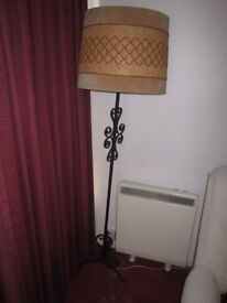Vintage retro Wrought Iron Standard Lamp working