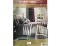 Bed Set, Curtains, Throw & Cushion, New.