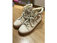 Size 5 women's high top suede trainers excellent condition