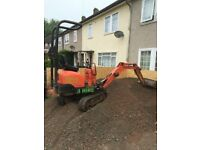 0.8t-1.5 ton MINI/MICRO Digger & driver hire- NO DELIVERY OR FUEL CHARGES !! DPM GROUNDWORK SERVICES
