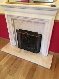 REAL MARBLE AND CONCRETE FIRE PLACE. **EXCELLENT CONDITION