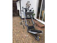 Impulse leg press / hack squat machine