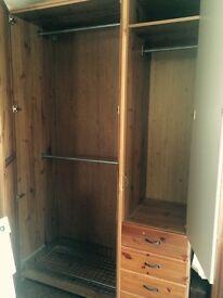 MUST GO TODAY! IKEA Pax Ulnes Double Wardrobe & Single Mirrored Wardrobe - Must go today!