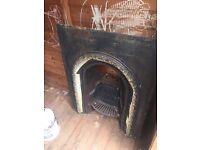 cast iron fireplace inset