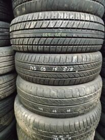 £5each QUALITY PART WORN TYRES TO TAKE AWAY £5 EACH 145 155 165 175 185 195 60 65 70 75 80 13 14