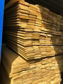 New heavy duty log cladding 3.6 metres treated