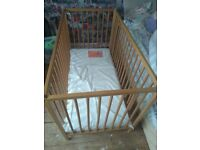 Brand new baby cot for sale and mattress