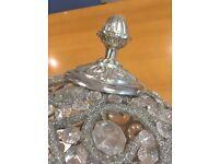 Beaded Silver Hanging Lamp