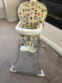 Grace baby highchair / toddler highchair with tray attachment
