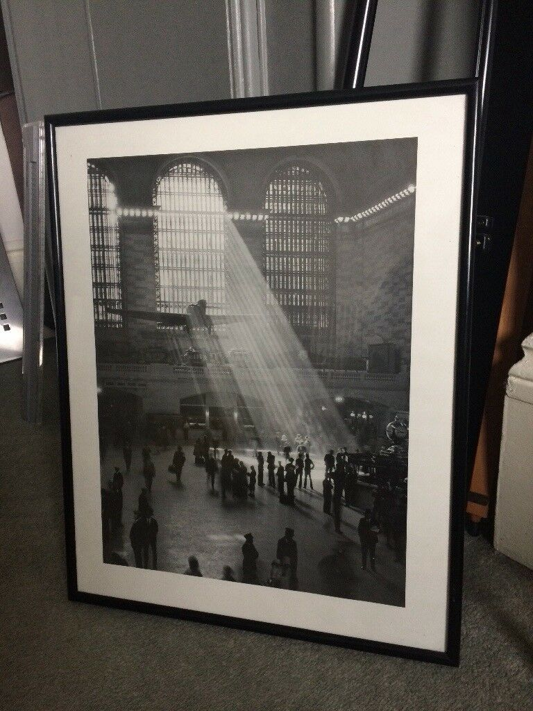 Framed print black and white picture
