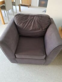 Grey sofa (2/3 seater) with matching armchair