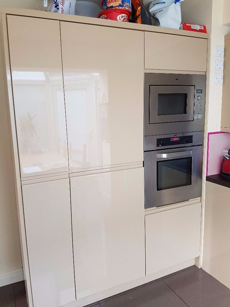Contemporary Gloss Finish B&Q Kitchen Units and Appliances For Sale ...