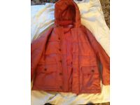 MENS FRENCH CONNECTION PARKA COAT LARGE VERY WARM IN AS NEW CONDITION