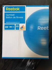 Reebok Gym Ball with Pump and DVD - 65 cm - Blue