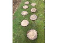 Wood look stepping stones