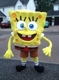 Spongebob squarepants look-a-like mascot