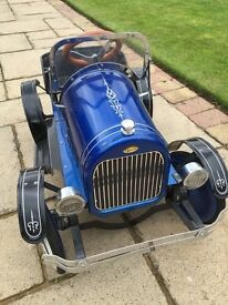 Stunning rare metal replica pedal car, very good condition £95