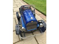 Stunning rare metal replica pedal car, very good condition £95