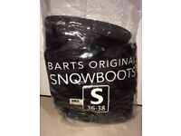 Women's BARTS ORIGINAL Black Snow Boots with Black Fur and Patent Exterior