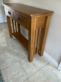 Console table oak