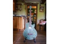 Deep Green Skylark Electro-Acoustic Bass Guitar w/ Hard Case and Jack Cable