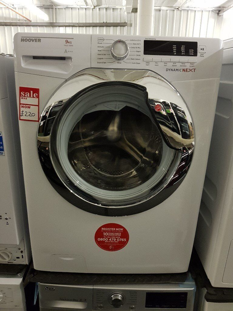 Brand New Hoover Dynamic Next Classic DXCC49W3 9kg Load, 1400 Spin Washing Machine - White