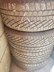 4 winter tires continental contiextremecontact 225/65r17 tt