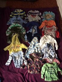 Baby boy massive clothes bundle 0-3, 3-6, 6-9, 9-12 months all in ONE, over 90 items