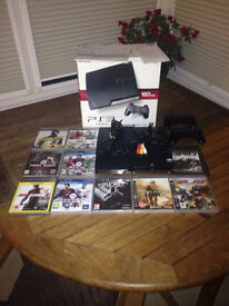 Sony Playstation 3 PS3 Console With 2 Controllers & Large Selection Of Games
