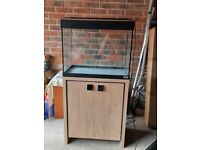 FLUVAL TROPICAL FISH TANK WITH CUPBOARD STAND
