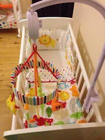 Kiddicare White Gliding Crib