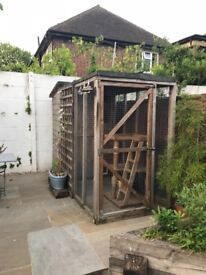 Free - Cat garden cat shed and run