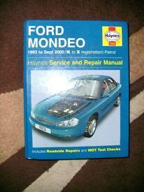 Ford Mondeo Haynes Manual 1993-2000
