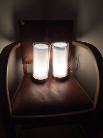 Pair of elegant touch lamps