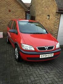 Vauxhall Zafira 54 reg. 13 months MOT.