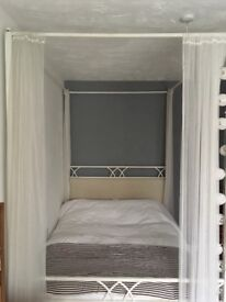 The iron bed company white double four poster bed