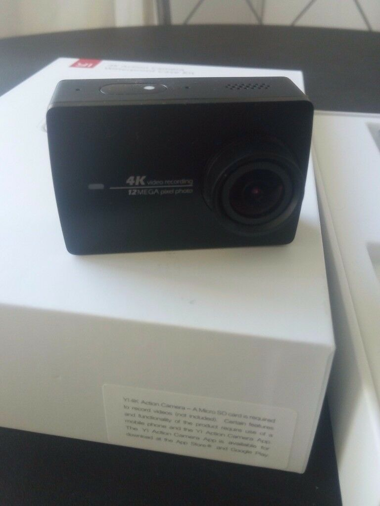 YI4KAction Camera with Waterproof Case, Assesories, Extra Batteries, Case etc - Go Pro Alternative