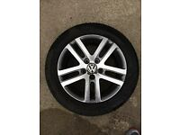 "VW - 3 x 16"" Alloys + tyres (used)"