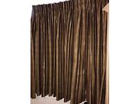 Curtains with lining( 126'' width and 62' drop)