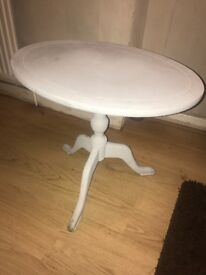 Chalk paint grey side table