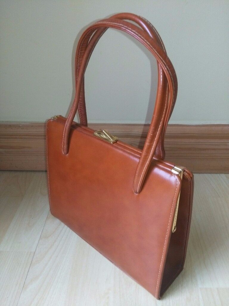 Ackery London Women's Handbag Brown Vintage 1950's (Fantastic Condition)