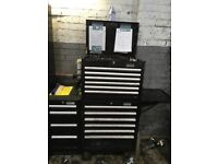 Halfords toolbox. Side cab and side tray. Not snap on /mac tools