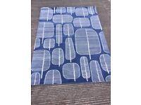 MissPrint Little Trees Rug, Blue 170cm x 240cm