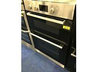 Hotpoint stainless steel 900 integrated double oven with 6mth warranty