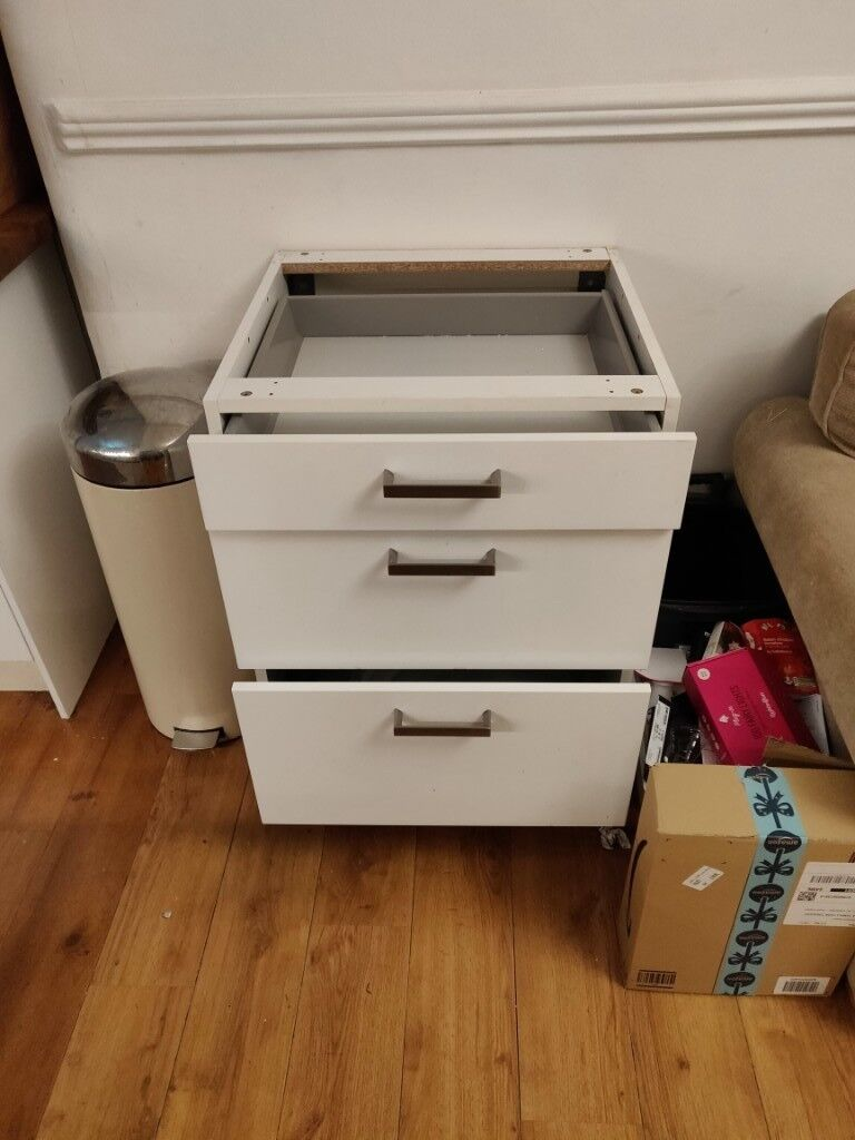 Ikea Rationell Kitchen Cabinet with 3 soft close drawers ...