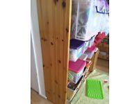 Solid wooden bookshelf