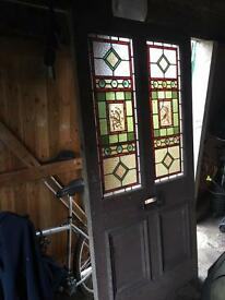 Beautiful vintage stain glass door