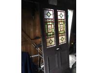 Beautiful vintage stain glass door